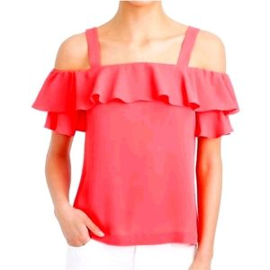 J. Crew cold shoulder top, sz 10